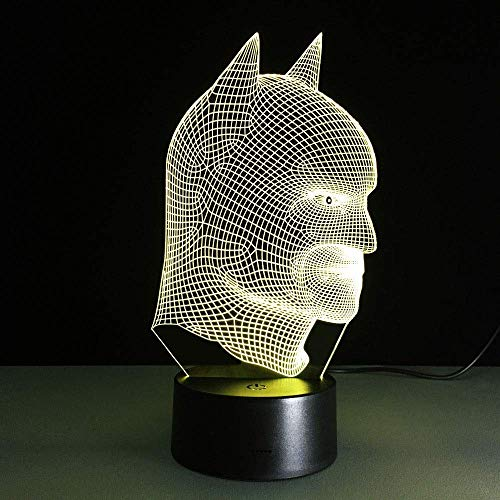 Télécommande Batman Coloré 3D Lumières Veilleuse Pour Enfants Visuel Led Veilleuses Illusion Ambiance Lampe Lamparas Enfant