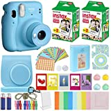 Fujifilm Instax Mini 11 Instant Camera + MiniMate Accessories Bundle + Fuji Instax Film Value Pack (40 Sheets) Accessories Bundle, Color Filters, Album, Frames (Sky Blue, Standard Packaging)