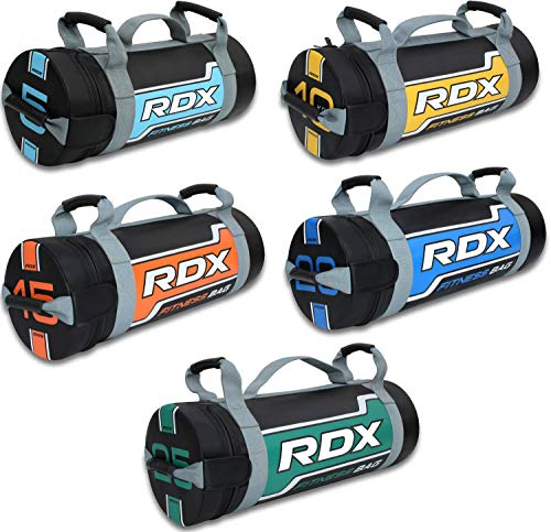 RDX Sandbag Weight Training Power Bag with Handles & Zipper | Weight Adjustable Fitness Powerbag for Weight Lifting, Running, Exercise, Powerlifting and Functional Workout