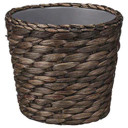 Pflanzkübel Wasserhyazinthe grau, aufgebaute Größe: Höhe: 12 cm, Außendurchmesser: 15 cm, max. Durchmesser Blumentopf: 12 cm, Innendurchmesser: 13 cm