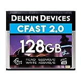Delkin DCFSTV128 128GB Premium Cfast 2.0 Vpg-130 Memory Card,silver