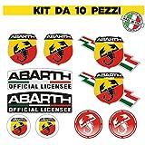 10 pegatinas de escorpión Abarth Tuning para coche, decoración deportiva a rayas – adhesivo de PVC para exterior