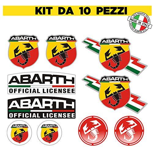 n.10 Adesivo Stickers Decalcomania compatibile per Auto decorazione Sport Scorpione Abarth Tuning Adesivi Stripes - adesivo pvc per esterno