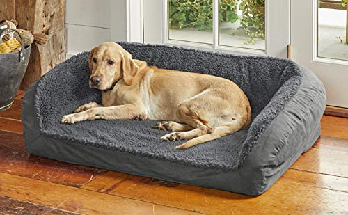 Orvis-Memory-Foam-Bolster-Dog-Bed-with-Fleece-Large-Dogs-Up-to-90-Lbs
