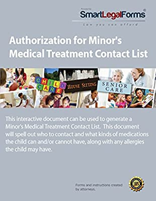 Authorization for Minor's Medical Treatment Contact List [Instant Access]