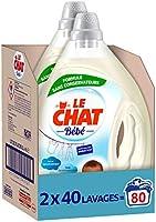 Le Chat Bébé - Lessive Liquide - 80 Lavages (2 x 2 L)