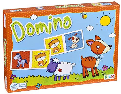 Mein erstes Lernspiel Tier Domino mit extra großen stabilen Karten