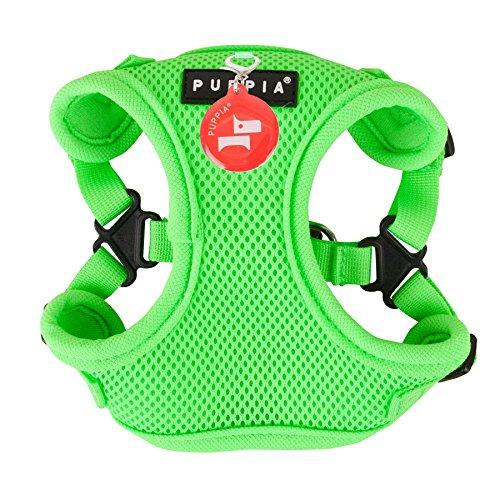 Puppia Authentic Neon Soft Harness C, Medium, Green