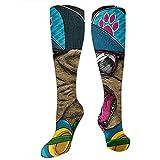 Be-ryl Calcetines largos y largos hasta la rodilla Cat Fashion Cool Calcetines deportivos para mujer