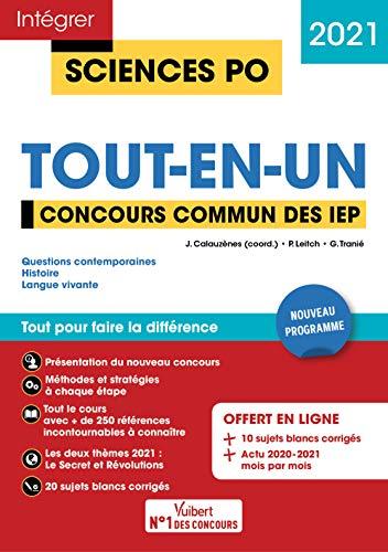 Concours Sciences Po - Tout-en-un: Tout pour réussir Concours commun des IEP (Réseau ScPo) - Nouveau concours 2021 (2020)