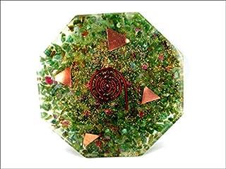 Jet International Ruby Fuschite Orgone Octagon Vastu Plaat Energie Generator Crystal Edelstenen Unieke Zeldzame Wetenschap...