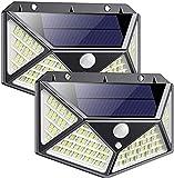 DOOK Luz Solar Exterior,【2Pack-162LED-1700LM】 Foco Solar...
