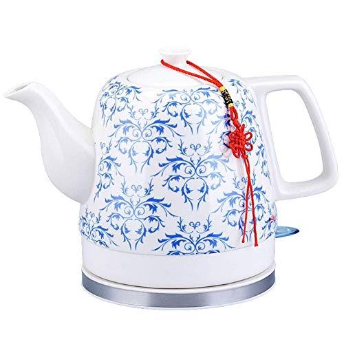 Bouilloires sans fil à thé en céramique Pot |Bouilloire électrique |1.2 Litres |Arrêt automatique Protection-Sec Faire bouillir |1200W rapide (Couleur: Bleu) 8bayfa (Color : Blue)