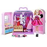 Kid Workbench DIY Set Spielzeug Spielzeug Schrank Kleiderschrank Prinzessin Möbel mit Kleidung...