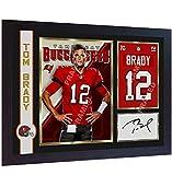 Cadre en MDF encadré Tom Brady Tampa Bay Buccaneers NFL signé autographe Football américain pré-imprimé photo #6