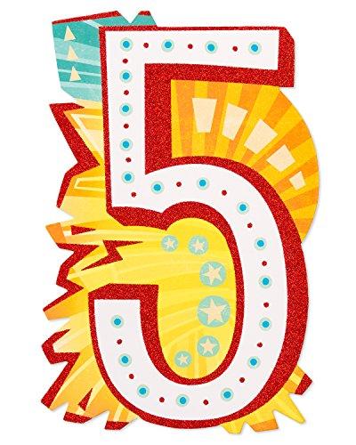 American Greetings Kids Birthday Greeting Card (6084486),Awesome 5th Birthday Card