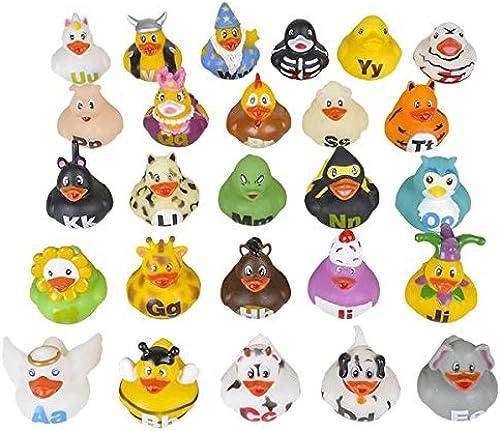 contador genuino Rhode Island Novelty 2 2 2 Alphabet Rubber Ducks (26 Piece) by Rhode Island Novelty  centro comercial de moda