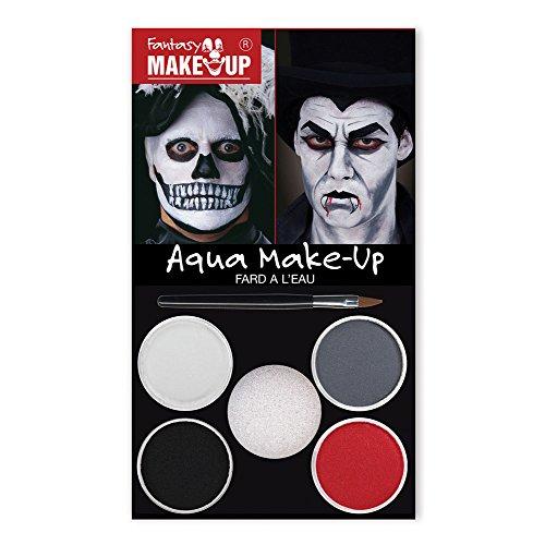 Bristol Novelty Mu034 Dracula Tête de mort Aqua kit de maquillage, adulte, taille unique