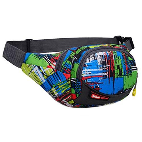 Black Temptation Outdoor Sports Sacs de Taille multifonctionnels pour la Course,la randonnée,Le Cyclisme,Le Camping, Mode Vert
