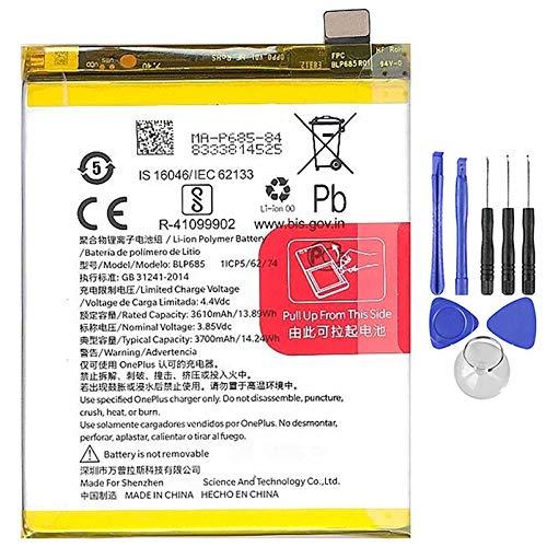 Ellenne Batterie compatible avec OnePlus 1+ BLP685 pour One Plus 6T 3700 mAh avec kit de démontage inclus
