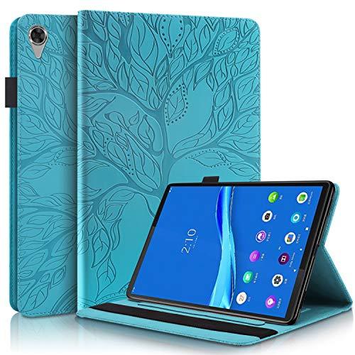 Tedtik Funda para Lenovo Tab M10 HD (2nd Gen) 10.1'TB-X306X / TB-X306F, Estuche de PU Ultradelgado con Función de Soporte - Azul