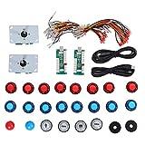 Joystick de Arcade DIY Juego de Arcade Joystick Set Panel de Control de Chip de computadora USB para PS3/PC Botón de Gamepad con luz