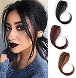 Fermaglio invisibile per capelli umani sulla frangia laterale per capelli naturali da donna, 25,4 cm, marrone chiaro