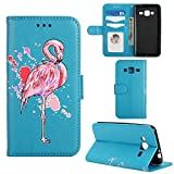 Samsung Galaxy J3 2016 Case, Ailisi [Pink Flamingo] Leather