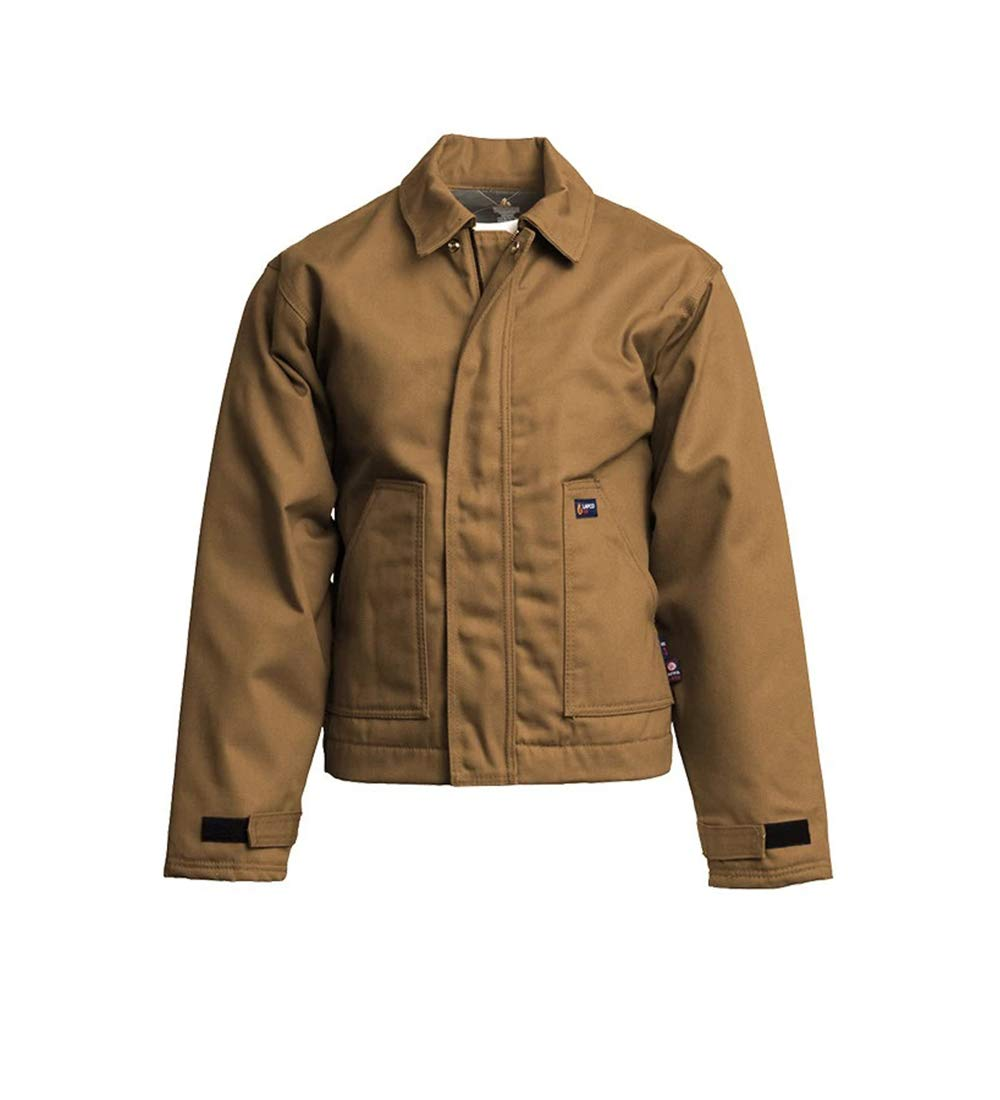 LAPCO JTFRBRDK-XL TL 12-Ounce Flame Resistant Duck Insulated Jacket, Brown