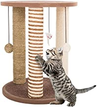 Cat Scratching Posts- Adult Cat and Kitten Tree, 3 Large Scratching Poles, Carpeted Base Play Area and Perch, Furniture Scratch Deterrent by PETMAKER