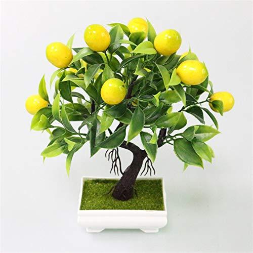 ZYSTMCQZ Bonsai-Pflanzen Gefälschte Baum Gelbfrüchte Topf für Dekoration Zubehör Hochzeit Dekor (Color : Yellow)
