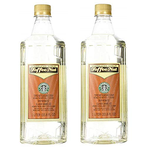 Starbucks Flavored Syrup (Toffee Nut, 2 Bottle Pack)