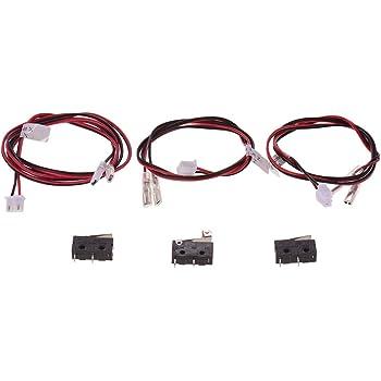 Aibecy Piezas de la impresora Anet 3D Fin de parada Interruptores de final de carrera Limitadores Control de enchufes con cable 24AWG Interruptor de 2 clavijas para la impresora 3D Anet A8 Plus