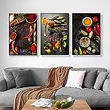 Cuadros de arte de pared Decoración de comedor Tema de cocina Mezcla de hierbas y especias de chile ...
