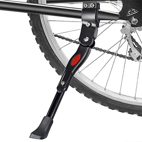 "Adjustable Aluminium Alloy Bike Bicycle Rear Kickstand Side Stand for 29/"" Black"