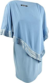 S.L. Fashions Women's Foil Cape Chiffon Dress