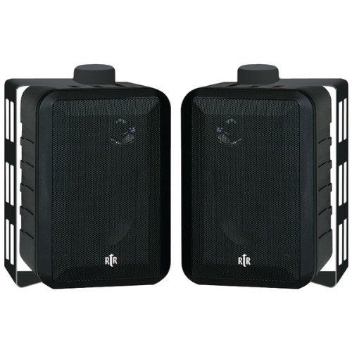 BIC AMERICA RTRV44-2 RtR Series 3-Way Indoor/Outdoor Speakers (Black)