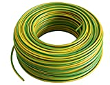 Aderleitung -Verdrahtungsleitung - Erdungskabel - Einzelader flexibel - PVC Leitung - H07 V-K 4 mm² - Farbe: gelb/grün 10m/25m/50m/100 m frei wählbar (10 Meter)
