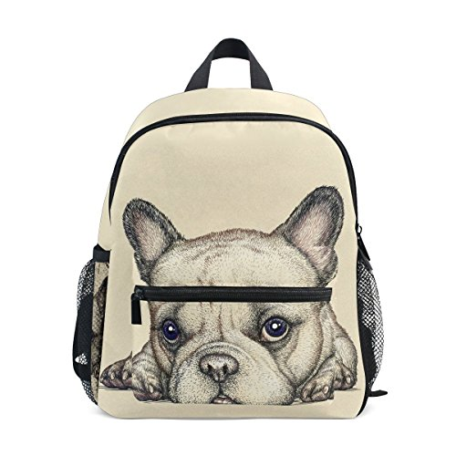 Mochilas Escolares Infantiles, Bolsa De Preescolar Liviana Personalizada Impresa Bulldog Francés para Niños Niñas Niños