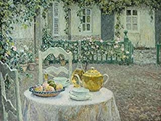 The Pink Tablecloth Poster Print by Henri Le Sidaner (22 x 28)