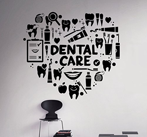 Dental Care Wall Decal Dentist Medical Vinyl Sticker Home Decor Ideas Bathroom Interior Removable Wall Art 9(dtl)