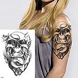 Handaxian 3pcsWater Robot de Transferencia de Mariposa Tatuaje del Brazo del Tatuaje Adhesivo Resistente al Agua Tatuaje de la Muchacha