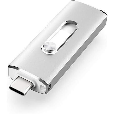 VANSUNY USB C Flash Drive, 128GB USB 3.1 Flash Drive 350Mb/s Dual Drive USB Type C Thumb Drive 128G USB C Drive Super Speed Solid State USB Drive (128G,Silver)