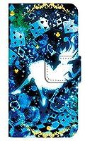 [Galaxy A21 SC-42A] スマホケース 手帳型 ケース デザイン手帳 ギャラクシーA21 8261-C. クリスタルブルーアリス かわいい おしゃれ かっこいい 人気 柄 ケータイケース ゴシック