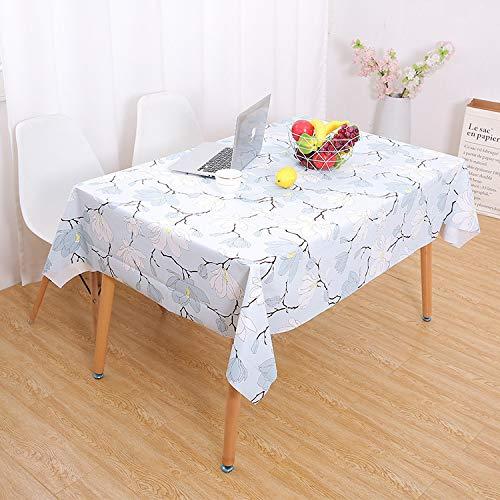 CFWL Waterproof PVC Large Home Tablecloth Printing Tablecloth Magnolia Flower 137 * 220cm tovaglia Oro Glitterata tovaglia Oro Rosa Compleanno tovaglia Blu