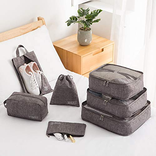 7 Set Bag Packing Cubes Travel TheNextTrip Luggage Organiser Compression Pouches for Travel, Stay Organised and Save Space, Perfect Travel Cube Set for Carry-on Baggage