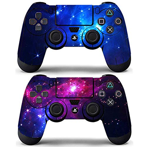Decal Moments 2 Pack Regular PS4 Controllers Skin Decal Stickers Cover Vinyl Wrap Galaxy Purple Space