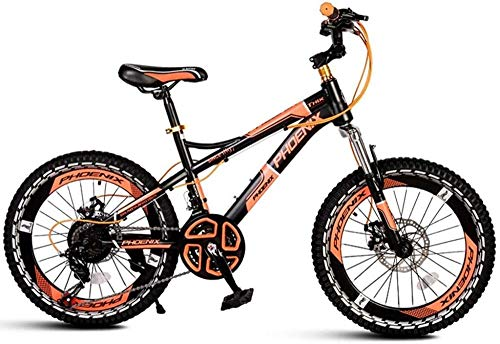 XXCZB Vélos vélo d'exercice mâle et Femelle vélo extérieur pour garçons vélo d'intérieur pour Fille été vélo de Montagne Outil de Voyage vélo d'exercice 3~15 Ans-Orange Noir