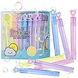 Herefun Burbujas de Jabon Niños, 48 pcs Varita de Burbuja, Conjunto Pompas de Jabón, Juguete Boda Burbujas de Jabon, Mini Burbuja Varitas para Fiesta Cumpleaños Exterior Decoración Regalo