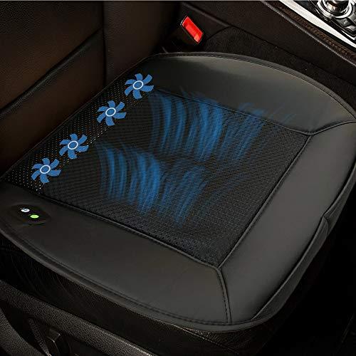 Big Ant Kühlende Sitzauflage Auto - Belüfteter Sitzbezug 12V Klima Vordersitze Sitzauflagen Auto Sitzkissen mit Belüftung Perfekt für Autositz/Bürostuhl im Sommer (1 Stück)